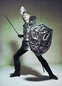 1969年初演時。篠山紀信氏撮影によるふん装姿の松本白鸚