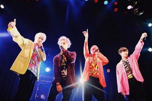 3周年記念ライブを行ったSELLOUTの(左から)Liki、工藤翔平、TATSUYA、SHUN