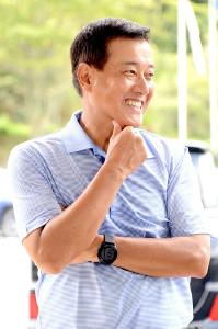今年、シニアツアーに本格参戦した原辰徳さん
