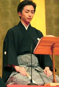 長唄の唄方(うたかた)として、堂々のプロデビューを飾った村治将之助こと杵屋勝四助