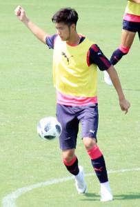 浦和戦に向けて練習を行ったC大阪の杉本