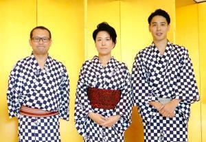 来年5月に真打ちに昇進する(左から)立川吉幸、橘ノ双葉、瀧川鯉斗