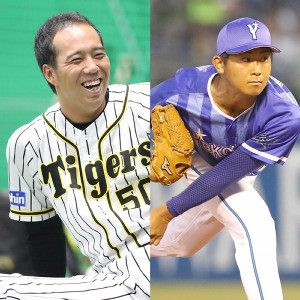 阪神・青柳(左)とDeNA・今永