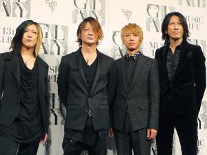 「GLAY」の(左から)HISASHI、TERU、JIRO、TAKURO