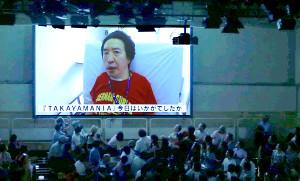リハビリ中の高山善廣がビデオメッセージで登場。後楽園ホールは静まりかえり涙ぐむファンも
