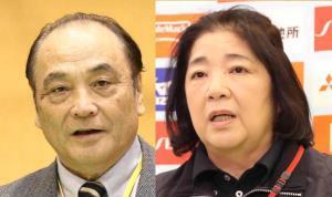 塚原光男副会長と千恵子女子強化本部長