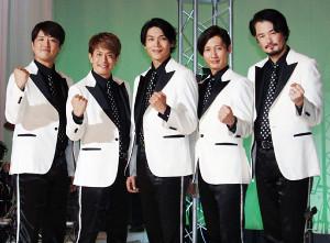 都内でコンサート最終公演を行った「純烈」(左から)酒井一圭、友井雄亮、白川裕二郎、後上翔太、小田井涼平