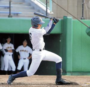 初回に先頭打者本塁打を放つなど、3安打と活躍した札幌大谷・北本(カメラ・清藤 駿太)