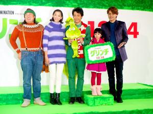 (左から)秋山竜次、杏、大泉洋、横溝菜帆、宮野真守