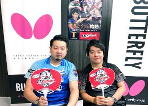 ダンサーの募集を呼びかける(左から)坂本竜介監督、岸川聖也(T.T彩たま提供)