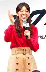 プレミア上映会に出席した小倉優子