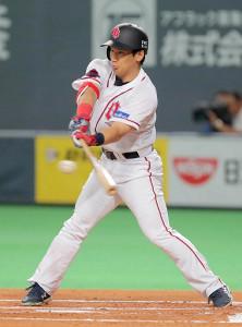 初回に先制二塁打を放ったオリックス・吉田正