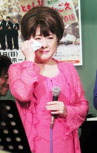 ベイビー・ブーとのデュエット曲「明日への伝言」の発売記念ライブを行った川中美幸