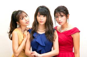 ドラマに出演する(左から)佐野ひなこ、馬場ふみか、久松郁実