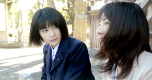 「未来のあたし」でダブル主演した織田奈那(左)と櫻井淳子