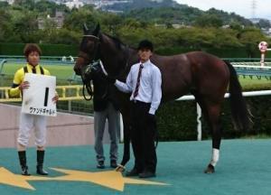 阪神5Rの新馬を勝ったヴァンドギャルドと北村友騎手