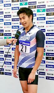 全日本実業団対抗の200メートルを制した飯塚翔太