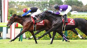 神戸新聞杯1、2着の友道厩舎ワグネリアン(左)とエタリオウ