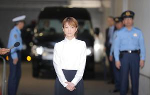 27日に保釈された際の吉澤ひとみ被告