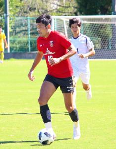 明大との練習試合で1得点した浦和DF森脇良太
