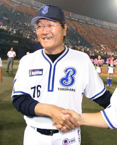 09年途中から横浜の指揮を執った田代1軍監督代行