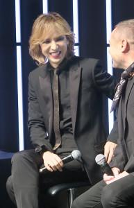 「YSL BEAUTY HOTEL」のオープニングイベントに出席した「X JAPAN」のYOSHIKI