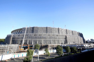 建設中の国立競技場