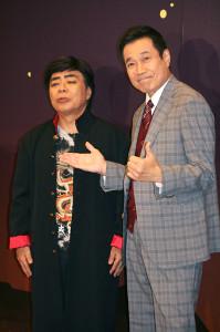 公開稽古を行った三宅裕司(右)、小倉久寛