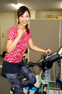 大阪マラソン出場に向け、体力測定を行った毎日放送・辻沙穂里アナウンサー