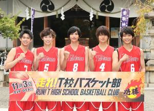 ヒット祈願を行った(左から)鈴木勝大、戸塚純貴、志尊淳、佐野勇斗、佐藤寛太