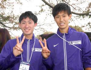 駒大の2人の「なかむらたいせい」中村大成(左)と中村大聖