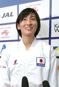 銅メダルに輝いた女子組手61キロ級の染谷