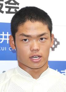 巨人が1位指名を公表した大阪桐蔭・根尾