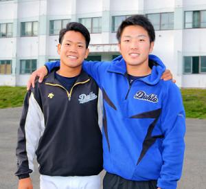 兄、そして福田(左)に続く活躍を誓った星槎道都大・生田目