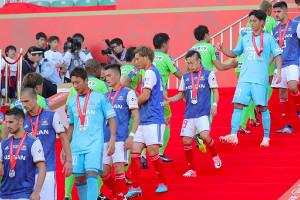 ルヴァン杯決勝で湘南に敗れ準優勝に終わった横浜Mイレブン