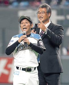 明石家さんまとトークで球場を盛り上げた木田GM補佐