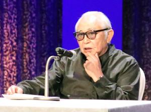 講演した倉本聰さん