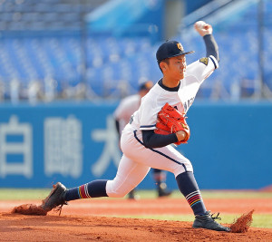 6回4失点の投球を見せた高松商の先発・香川卓摩