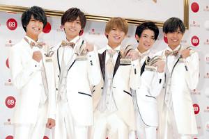デビュー年に初出場するKing&Princeの(左から)高橋海人、永瀬廉、平野紫耀、岸優太、神宮寺勇太