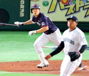 日米野球に出場、メジャーの投手相手に巧打を見せた秋山