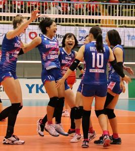 PFU・堀口(左から2人目)が活躍も、勝利には結び付かなかった