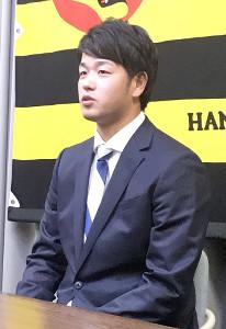 100万円増の1300万円で契約を更改した阪神・高橋遙人