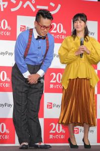 騒動後初めてイベントに登場した宮川大輔(右は藤本美貴)