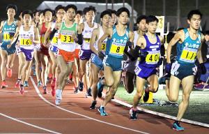 10000m記録挑戦競技会 最終第12組で青学大勢はレースをリードした