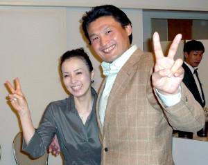 花田光司氏(右)と景子さん