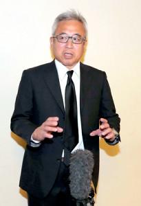 勝谷さんの通夜に参列した宮嶋茂樹氏