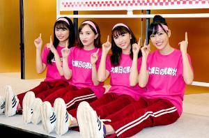 「ももいろ歌合戦」に出席した(左から)佐々木彩夏、百田夏菜子、玉井詩織、高城れに