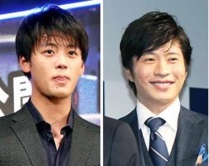 竹内涼真(左)と田中圭