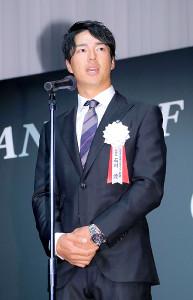 挨拶した石川遼選手会長