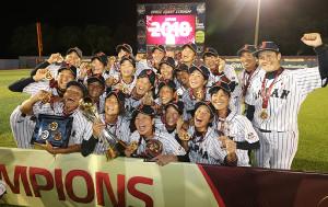 8月の女子野球W杯で6連覇を達成した「マドンナジャパン」